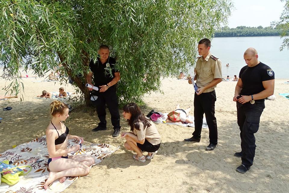 На измаильском стихийном пляже прошел очередной рейд спасателей и полиции