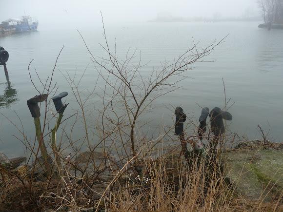 Добро пожаловать в «музей робинзонов»: аккерманские рыбаки нашли креативное применение хламу из лимана
