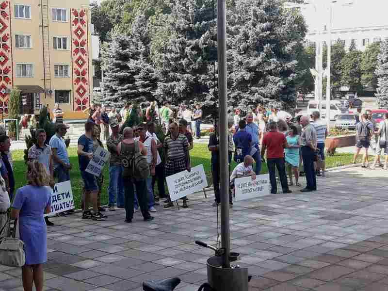 """545 Пикет у стен мэрии в Измаиле: работники """"Бессарабии-Агро"""" отстаивают свою будущую зону отдыха"""