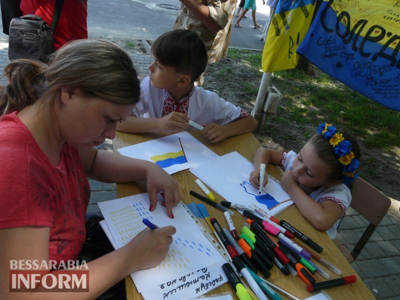 5964bd73d7843_P1080376 Полон сквер патриотизма: всеукраинская акция «Велика українська хода» достигла Измаила
