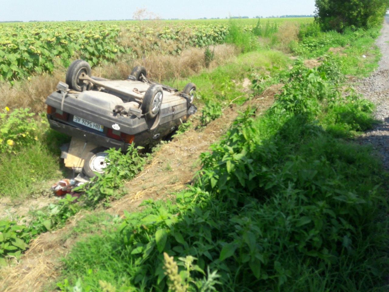 Очередной приступ эпилепсии за рулем: на трассе Одесса-Рени перевернулся легковой автомобиль