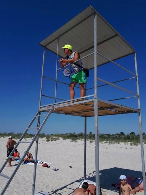 vyshka Килийский р-н: в курортном Приморском начали функционировать спасательные пункты
