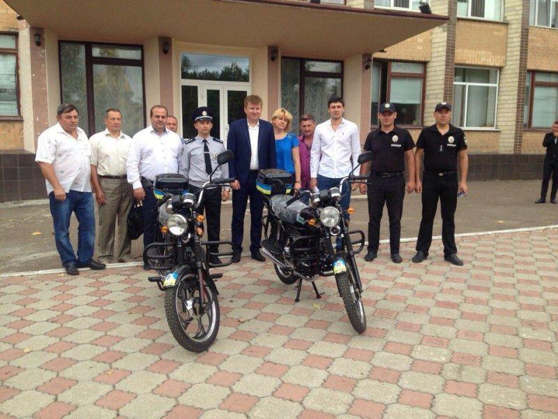 В Арцизе участковые офицеры полиции пересядут на служебные мотоциклы