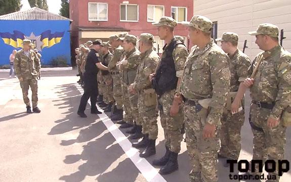 Болградские полицейские в составе подразделения «Шторм» отправились на службу в зону АТО