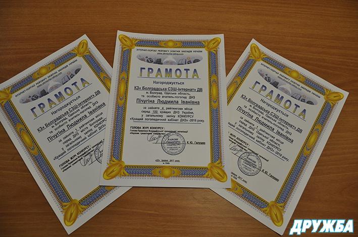 Логопедический кабинет Болградской школы-интерната для глухих детей признан лучшим на Одесчине