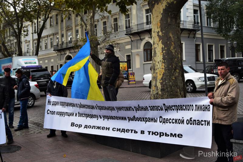 Рыбаки, промышляющие на Днестровском лимане, митинговали  против выдачи разрешения на вылов рыбы браконьерам