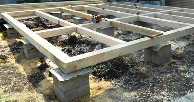 oporno-stolbchatyj-fundament Строим канадский дом из SIP панелей своими руками