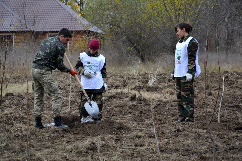 16 В Измаиле сотрудники лесничества и учащиеся Лесной школы в заповедной зоне заложили новый парк