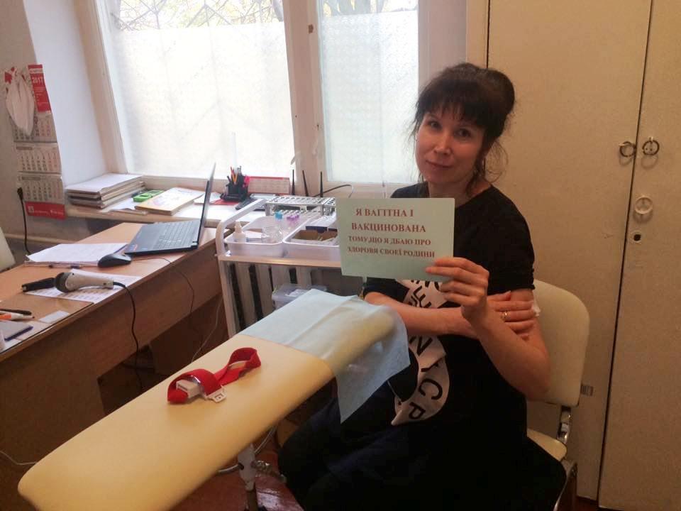 В Килийском роддоме вакцинируют беременных от гриппа и поддерживают всеукраинский флешмоб