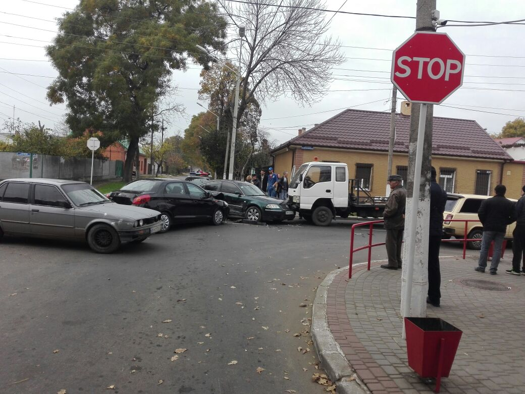34856845 В Измаиле на перекрестке столкнулись три автомобиля
