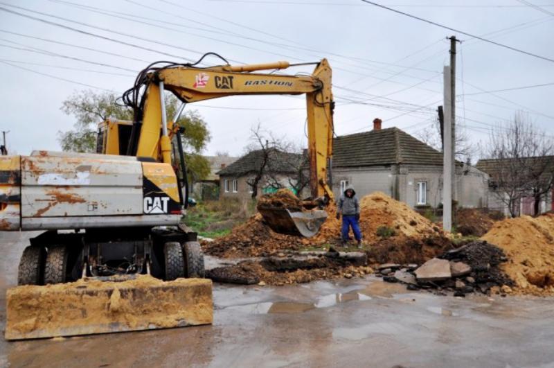 В Болграде ведутся работы по реконструкции питьевого водопровода