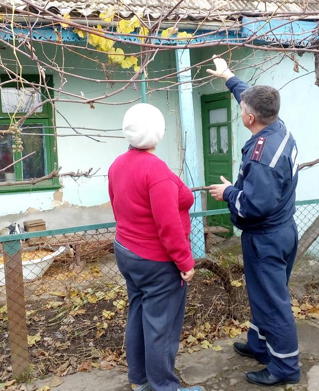 В Килие спасатели проверили у жителей частного сектора печное и электрическое отопление