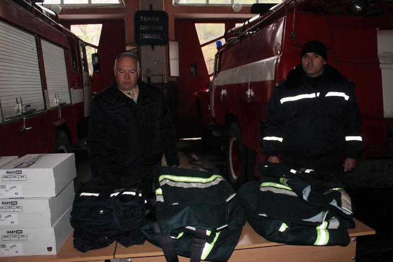В Аккермане спасателей одели и обули за счет средств городского бюджета