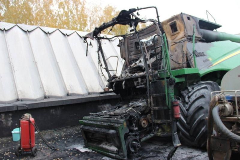 В Арцизе местному фермеру подожгли комбайн - перед этим ему угрожали