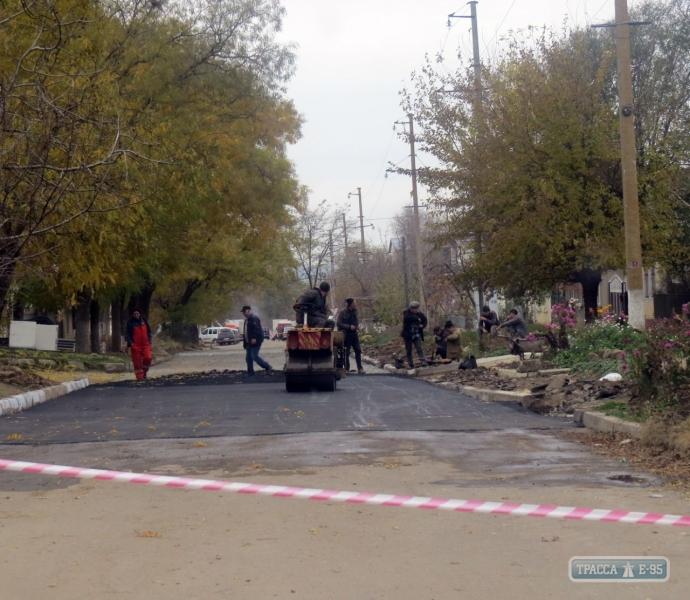 В Болграде на улице, некогда вымощенной диким камнем, построили современную дорогу