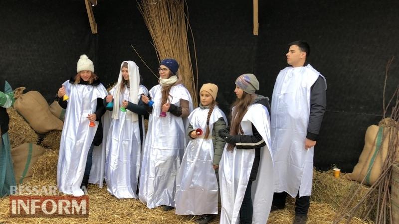 На проспекте Мира в Измаиле организовали Рождественский вертеп