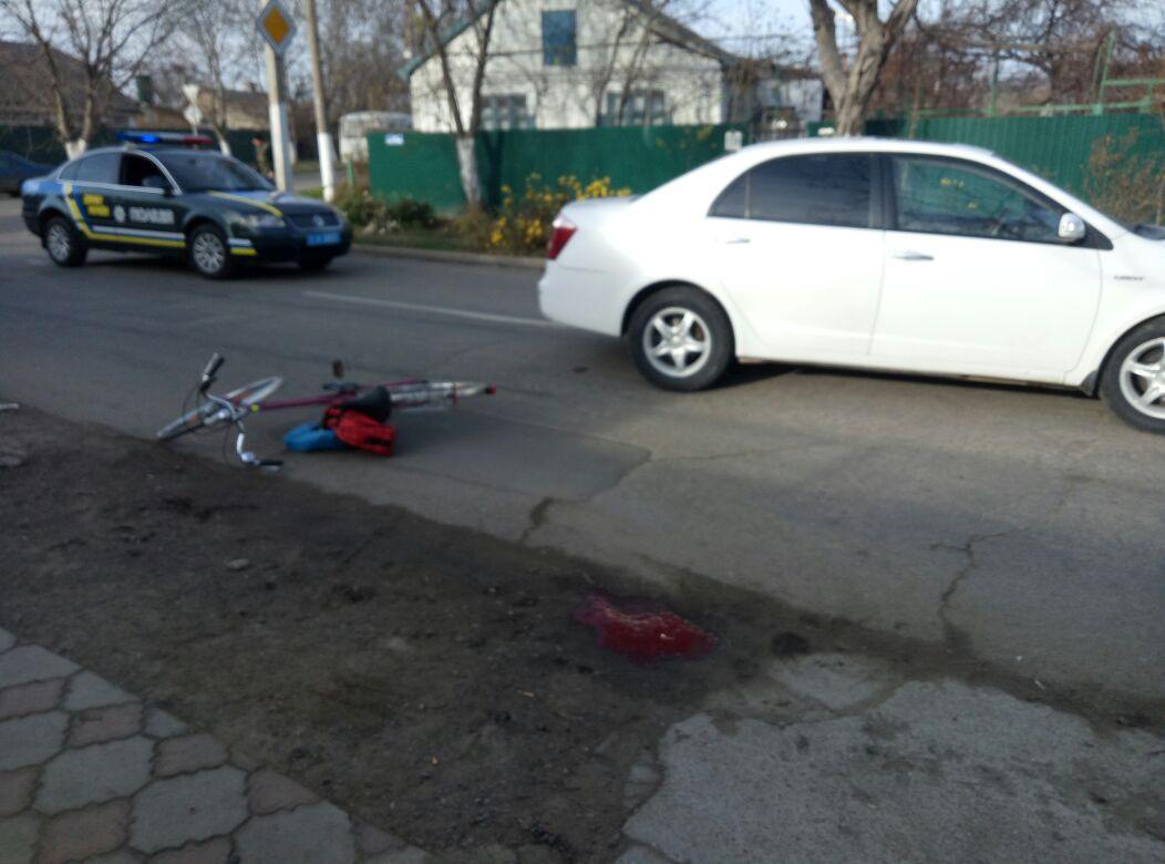 avariya-v-Izmaile-13.12.17 В Измаиле женщина-велосипедист в результате столкновения с автомобилем получила тяжелые травмы