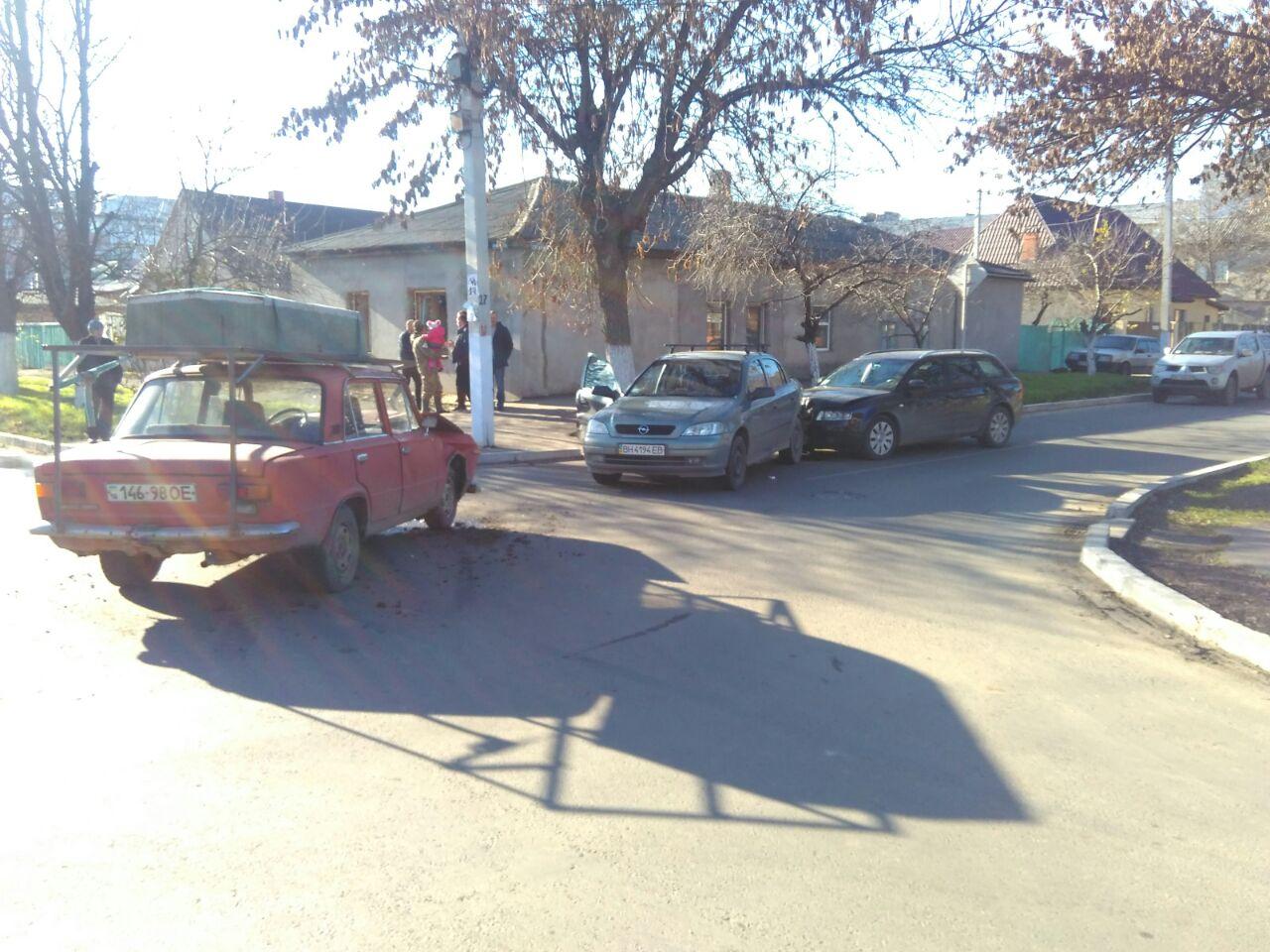 В Измаиле произошло два ДТП, в которых пострадало пять автомобилей