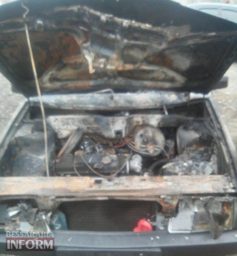 Подробности ночного автопожара в Рени: капитально отремонтированное авто подожгли накануне дня продажи