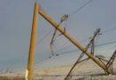 В Измаиле, Килии и Арцизе показали последствия стихийного бедствия: огромные столбы поломаны, как спички