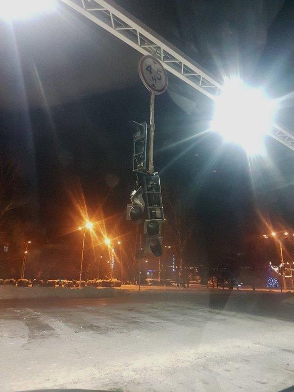 В полиции объяснили, почему в непогоду в Измаиле светофоры работают в режиме ожидания