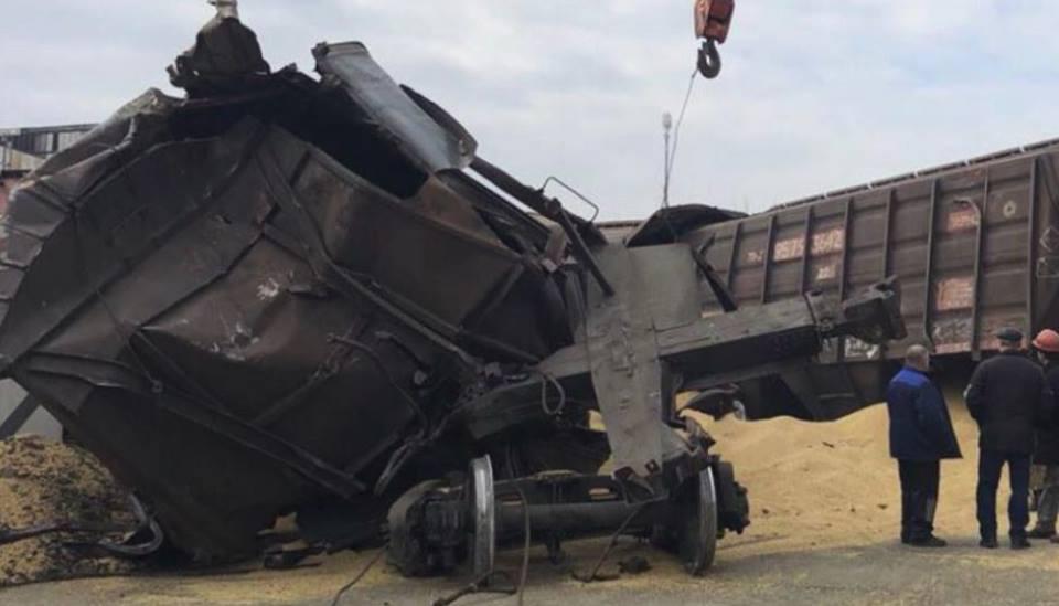 В Черноморске произошла крупная ЖД авария