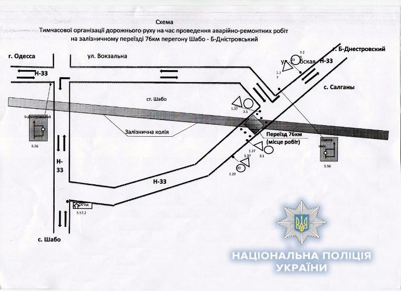 На автодороге Одесса-Белгород-Днестровский-Монаши временно закроют движение