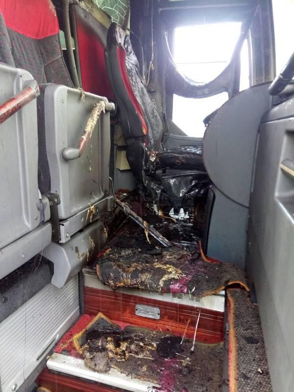 В Измаильском районе загорелся рейсовый автобус - обошлось без жертв