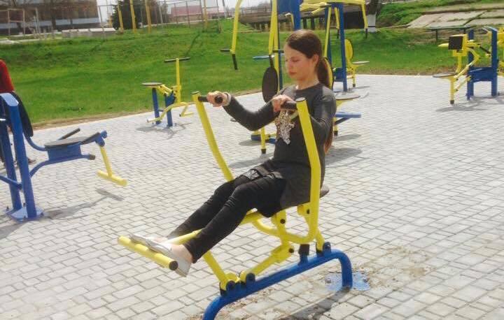 В селе Килийского района установили современный спорткомплекс