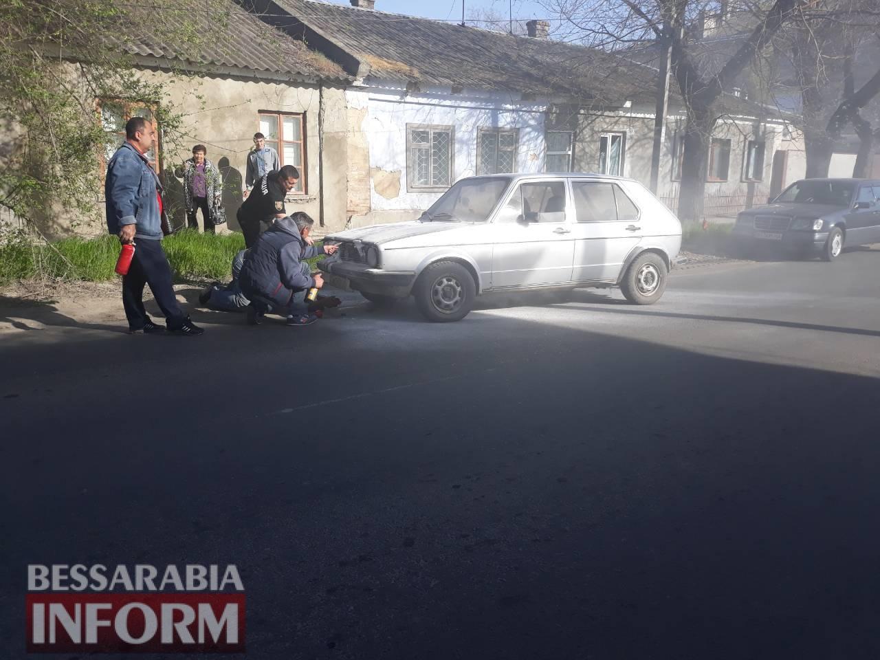 В Измаиле на Белгород-Днестровской на ходу загорелся автомобиль