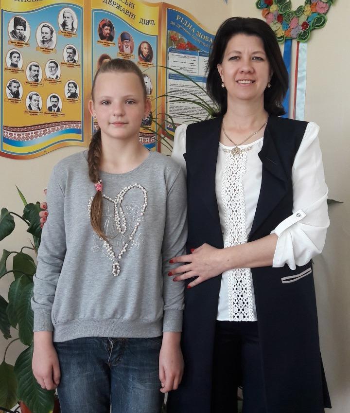 Юная ученица килийской школы заняла первое место в престижном всеукраинском конкурсе имени Ивана Франко