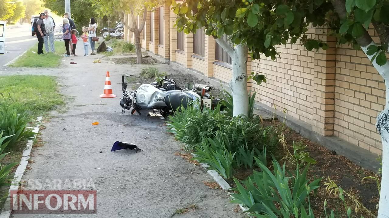 В Измаиле на Телеграфной сбили мотоциклиста (обновлено)