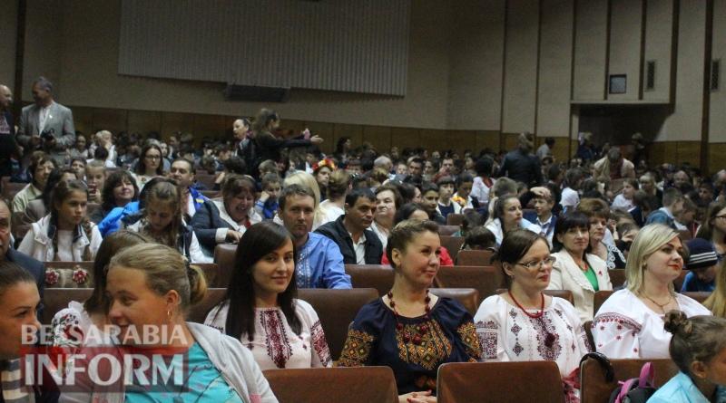 В Татарбунарах несмотря на дождь провели марш в вышиванках