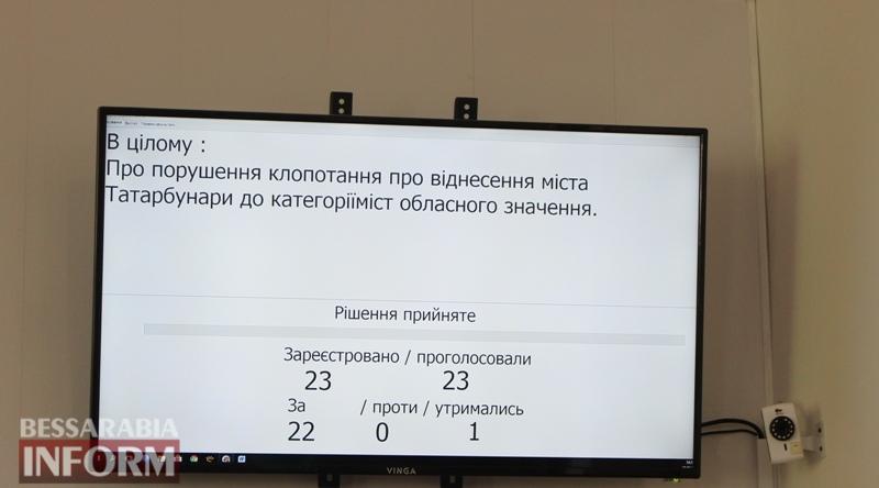 Депутаты Татарбунарского горсовета хотят изменить статус города