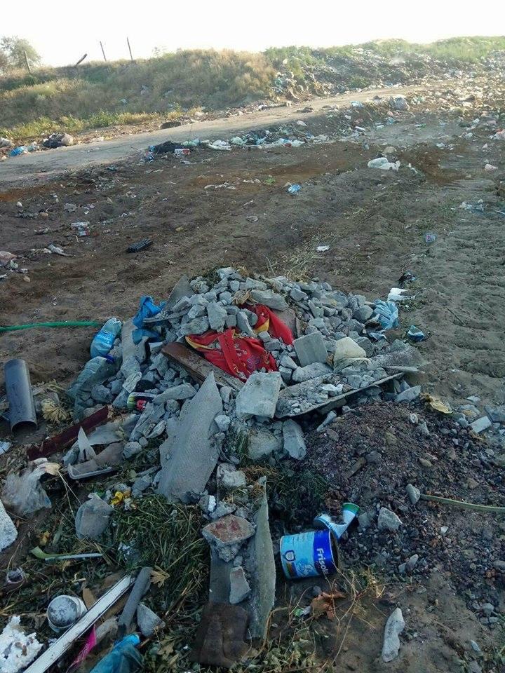На расчищенной Вилковской городской свалке за неделю выросли новые горы мусора