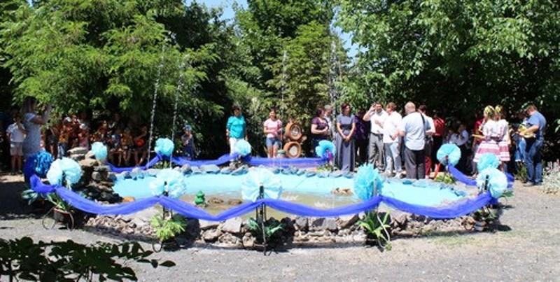Фонтан-аквариум в дендрологическом парке села Ларжанка снова заработал