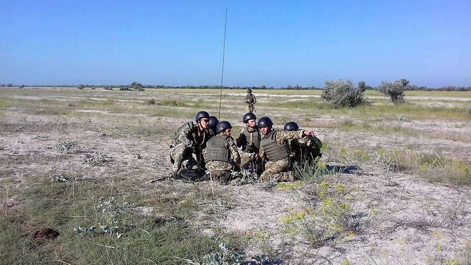 На побережье в Одесской области прошли совместные маневры украинских и молдавских десантников