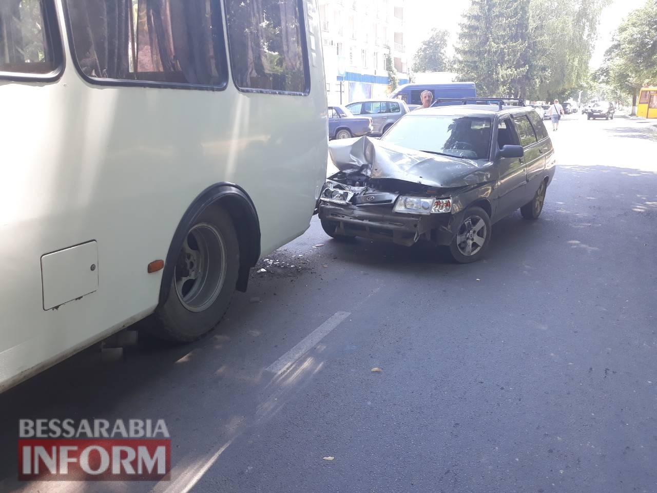 В Измаиле из-за ДТП оказался заблокирован проезд по проспекту Суворова