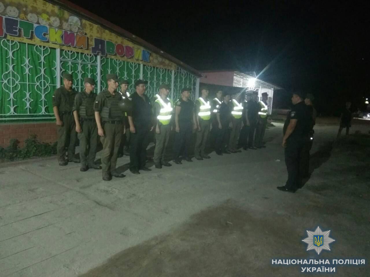 Курорт Приморское Килийского района патрулируют полицейские и нацгвардейцы