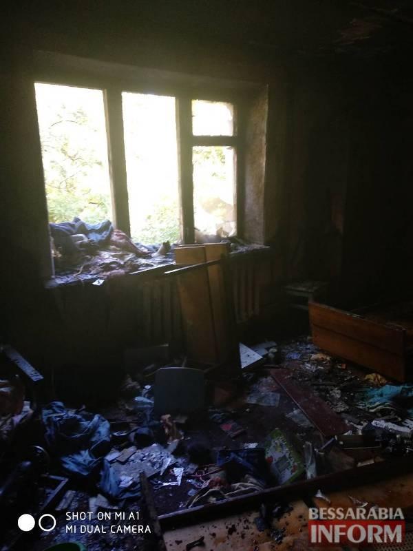 В Измаиле на улице Клушина полностью выгорела квартира, погиб мужчина