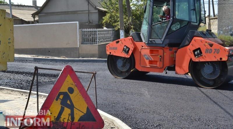 В Аккермане начали асфальтировать одну из самых проблемных улиц города