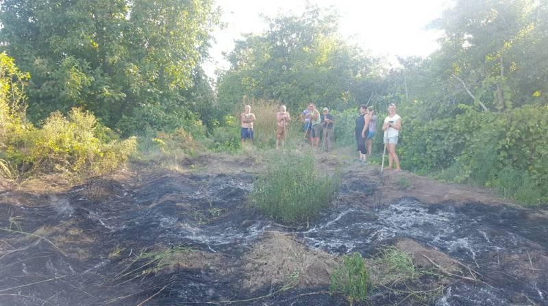 Отважные селяне помогли Белгород-Днестровским спасателям ликвидировать пожар