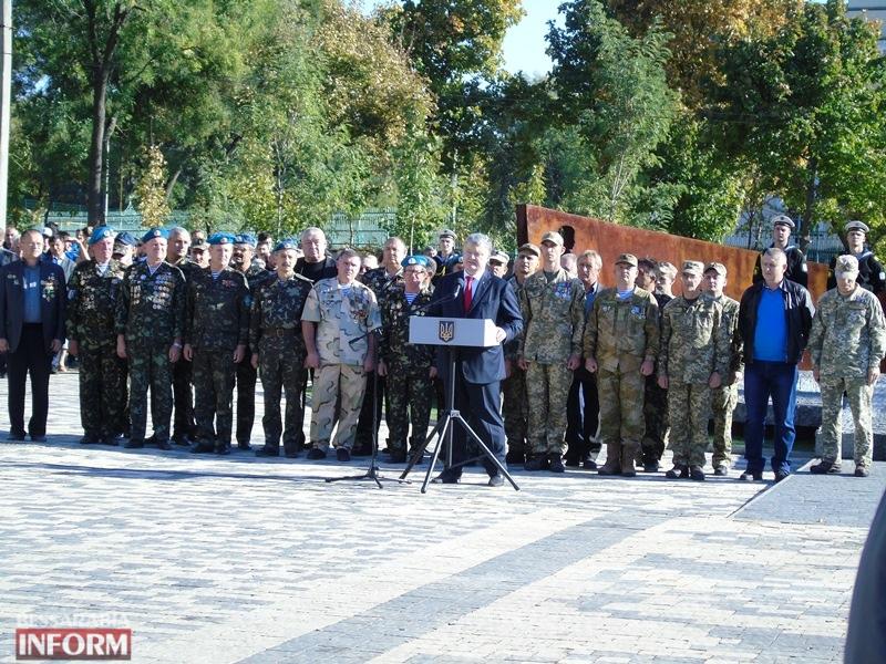 В Болграде при участии Президента открыли мемориал воинам Второй мировой войны и АТО