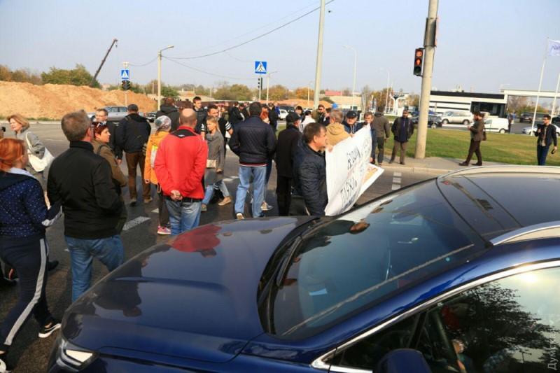 Сегодня активисты из Затоки на час перекрыли Киевскую трассу