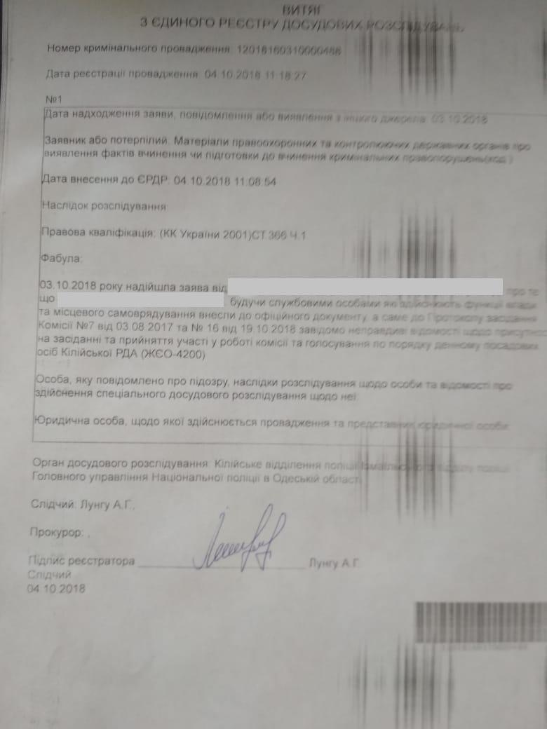 На чиновников Килийской РГА возбуждено уголовное дело по фактам махинаций с землей