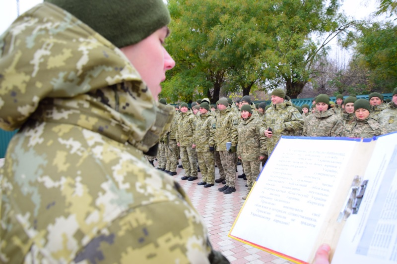Измаил: в погранотряде новобранцы давали клятву воина