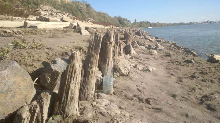 В Дунае установился рекордно низкий уровень воды (ФОТО)