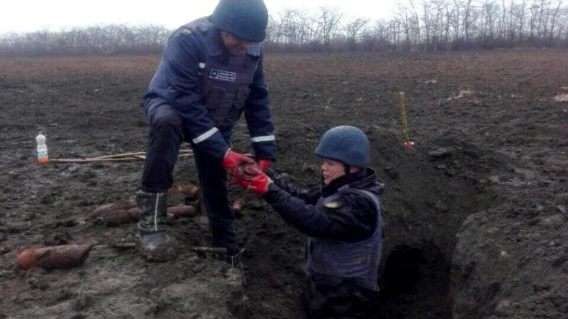 В Саратском районе за несколько дней обнаружили более 200-т боеприпасов времен Второй мировой войны