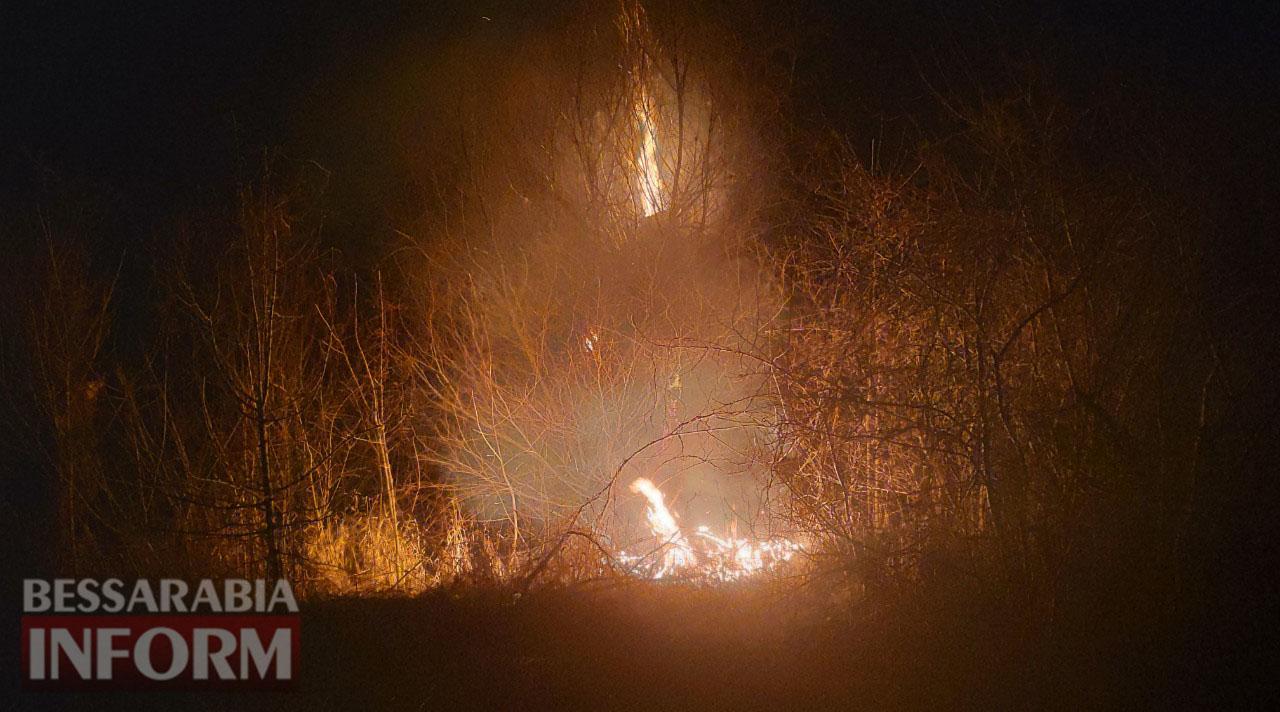 В селе Лески Килийской ОТГ возгорание травы перекинулось на нежилые дома, есть угроза жилым