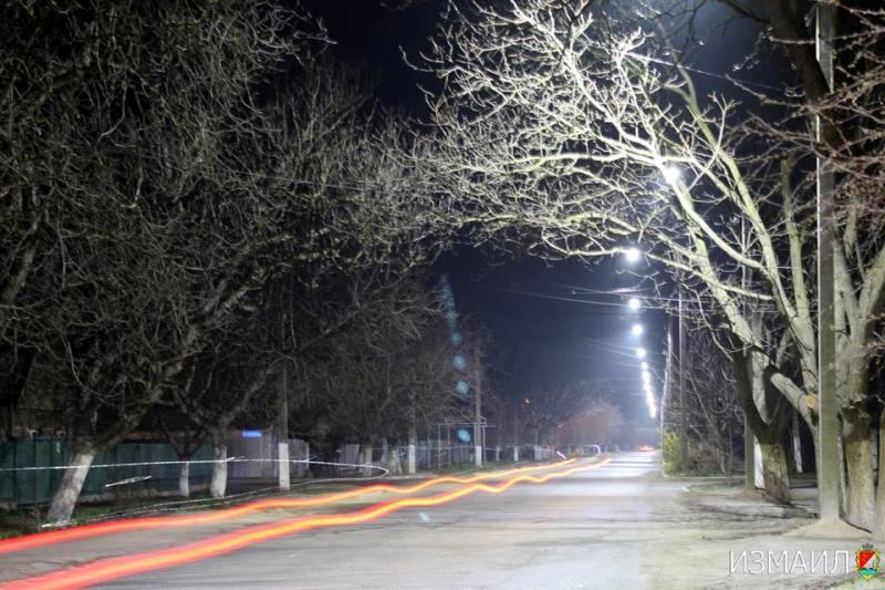 Измаил: на улице Краснодонской осовременили уличное освещение